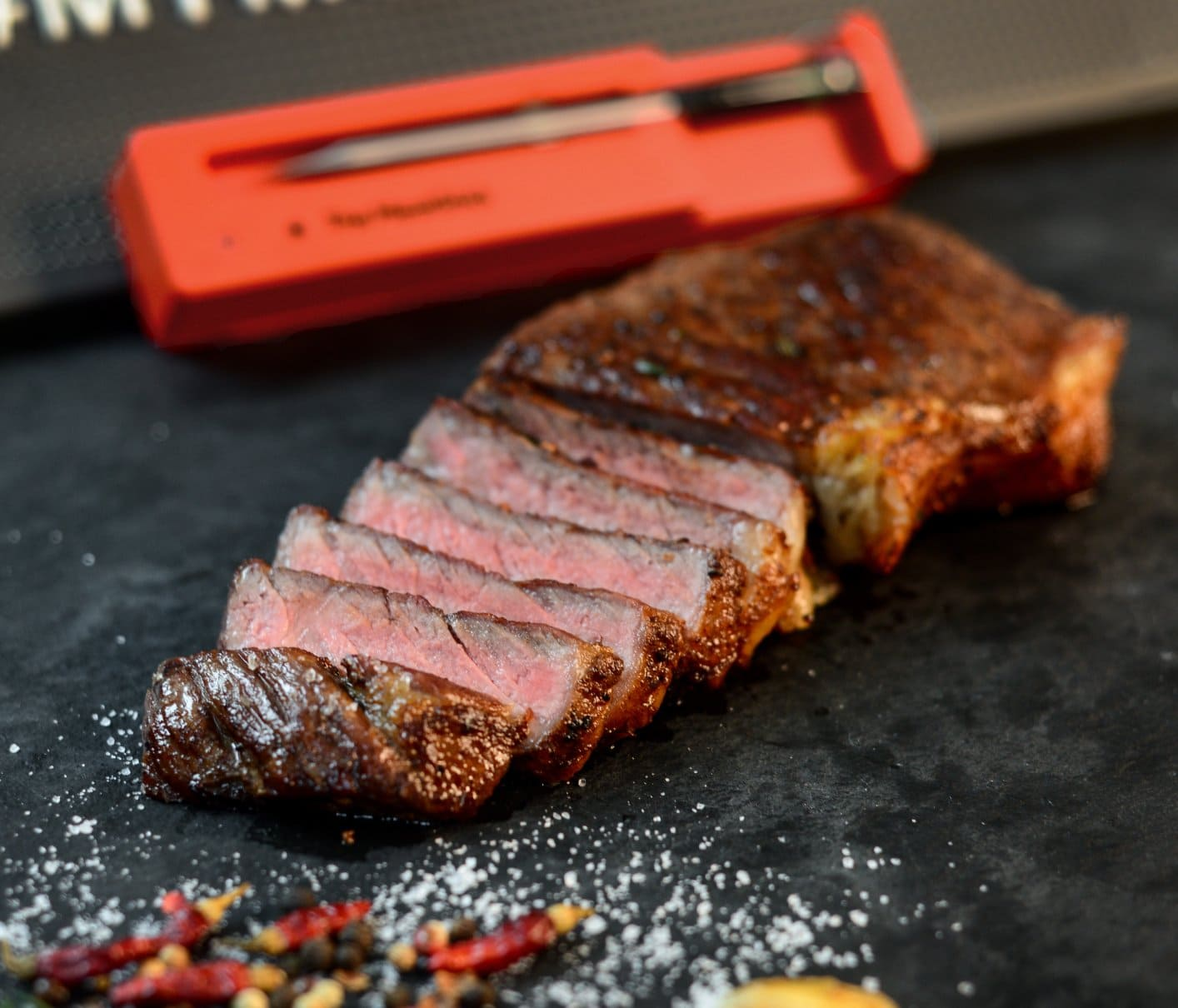 Cut Reverse Sear Steak with The MeatStick