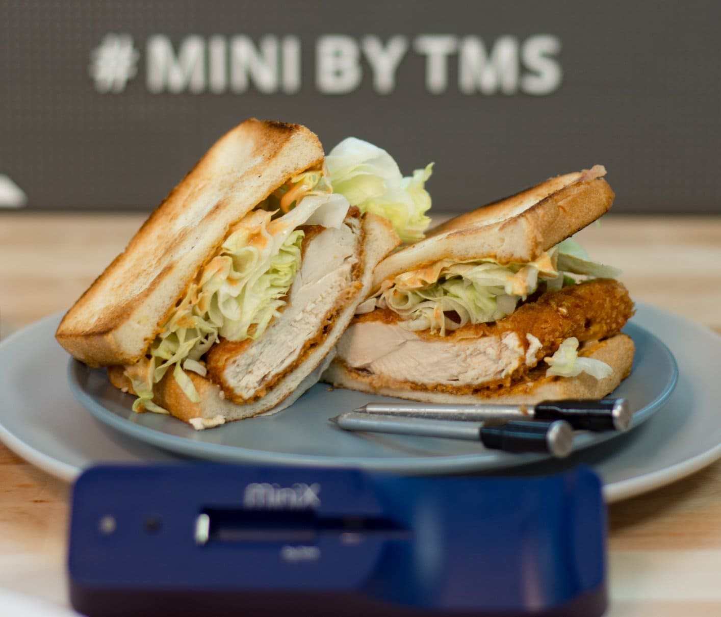 Chicken Katsu Sandwich using Mini by TMS