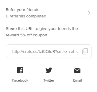 The Reward Program's Referral URL