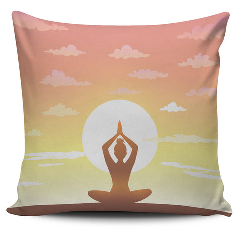 Sunset Yoga Pillow Cover