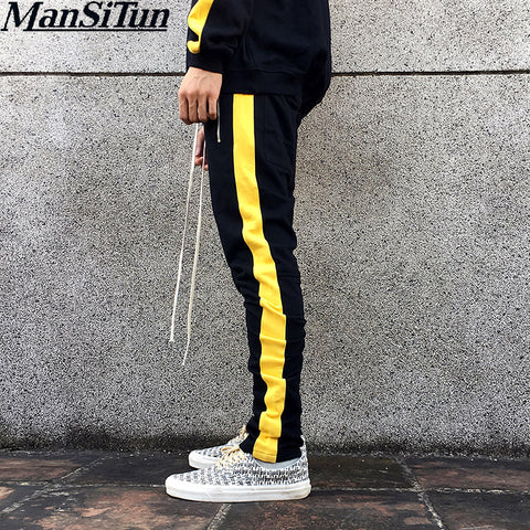 Premium Limited Edition  Fitness Long Pants Men Casual Sweatpants Jogger Trousers 2019 Hip Hop Fitted Bottoms Zipper Streetwear Pants