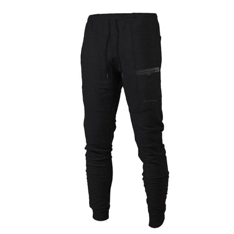 New Alpha Fashion Fitness Exercise Long Pants Men Fashion Fitted Bottoms Streetwear Pants Casual Sweatpants Baggy Jogger Trousers