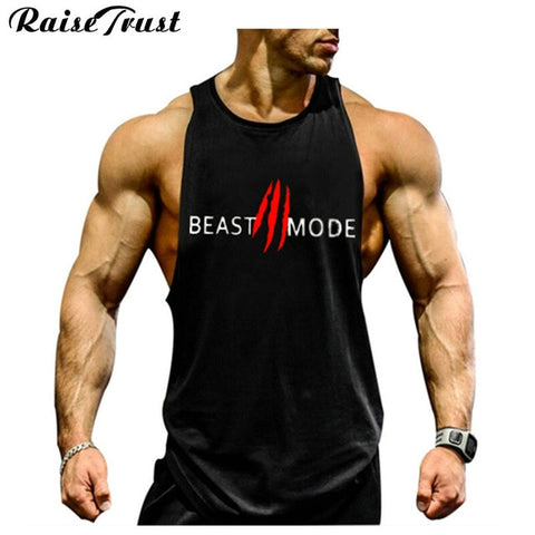 New 2019 fashion cotton  sleeveless shirts tank top men Fitness shirt mens singlet  Bodybuilding Plus size gymvest fitness men