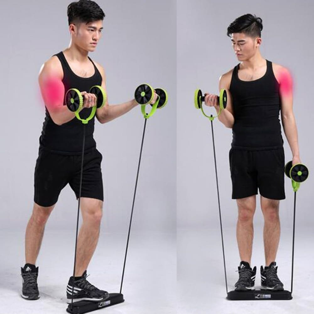 Ab Roller Wheel With Mat Abdominal Trainer Wheel Arm Waist Leg Exercise Multi-Functional Fitness Equipment Exercise