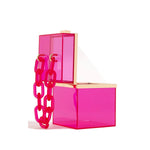 Alexandra Pink Acrylic Box Bag