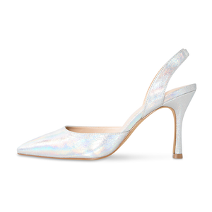 Audrey Vegan Hologram Slingback Pumps