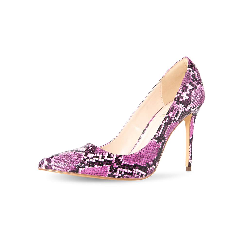Azar Purple Vegan Snake Pumps