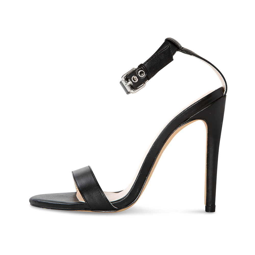 Cima Black Vegan Leather Heels