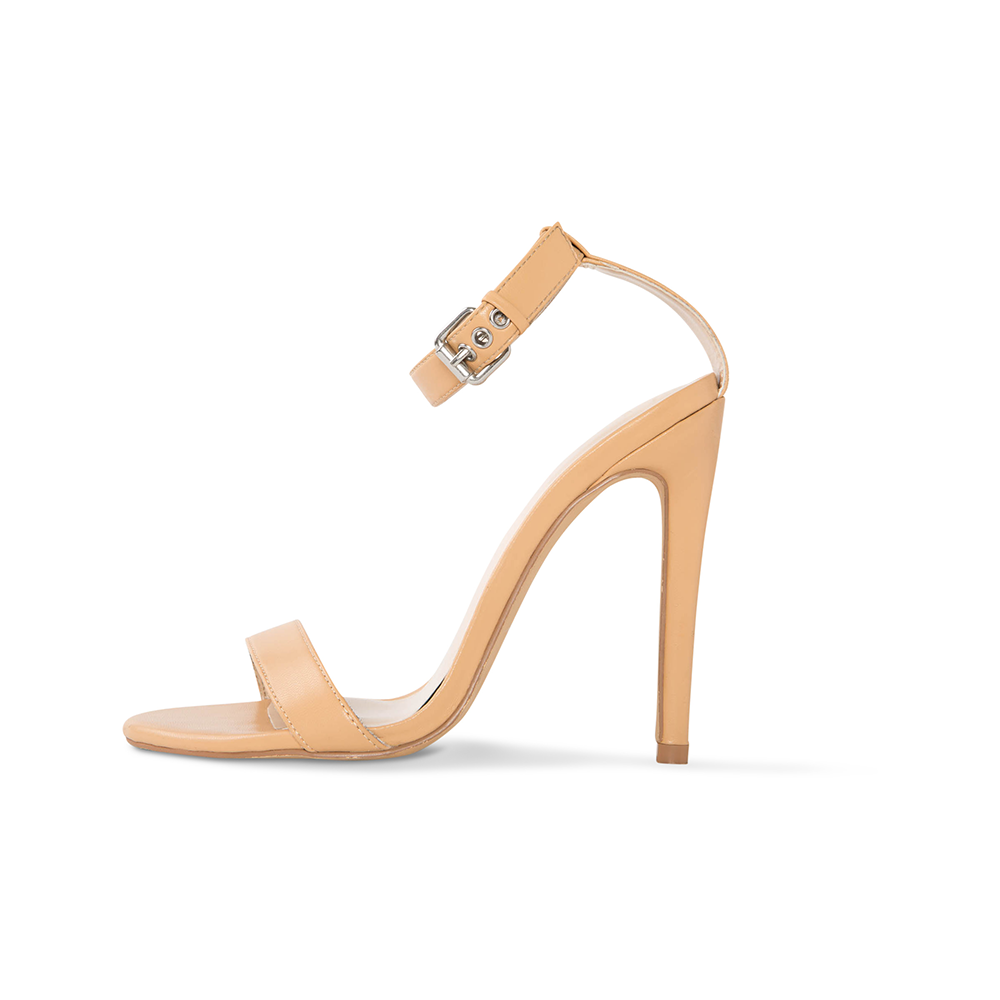 Cima Nude Vegan Leather Heels