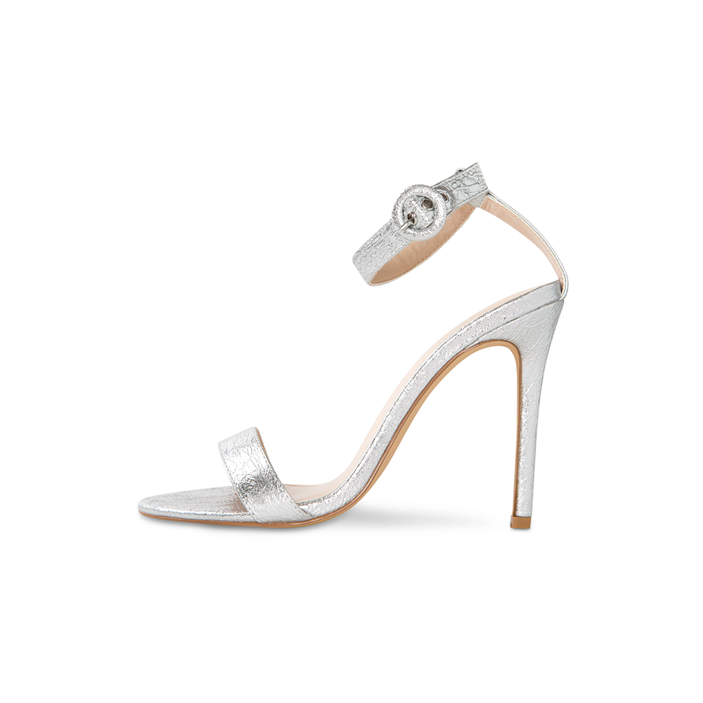 Cima Silver Vegan Leather Heels
