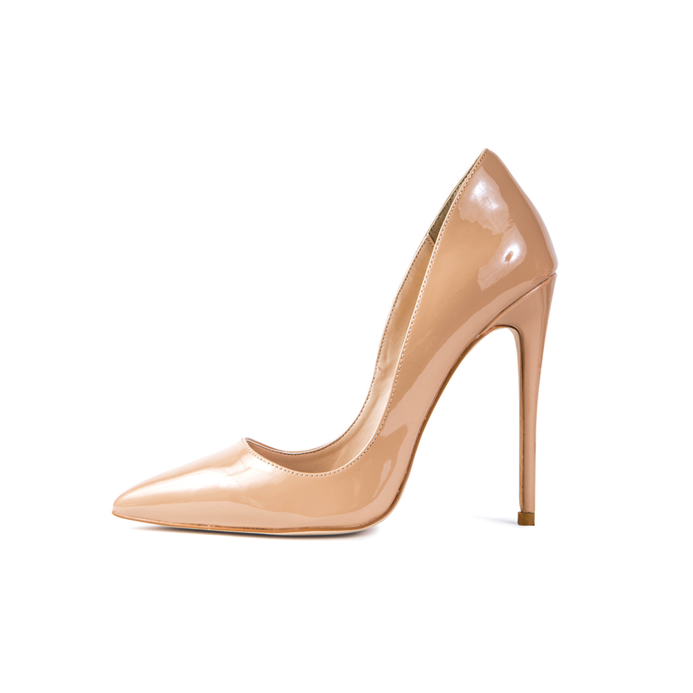Gloria Nude Vegan Patent Leather Pumps