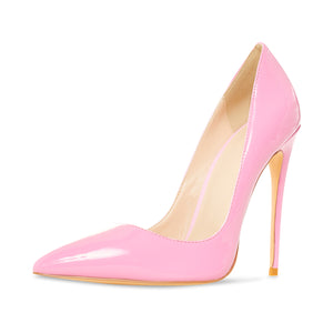 Gloria Pink Vegan Patent Leather Pumps