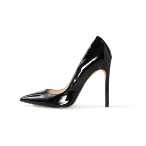 Sophia Black Vegan Patent Pumps