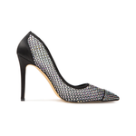 Emanuelle Black Satin Pumps