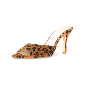 Marilyn Vegan Leopard Open Toe Mules