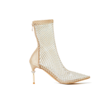 Naomi Nude Gold Crystal Booties