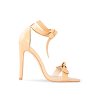 Pegah Nude Vegan Leather Bow Heels