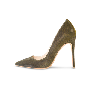 Sophia Vegan Gold Disco Pumps