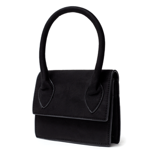 Bella Bag Black Suede | Cult of Coquette