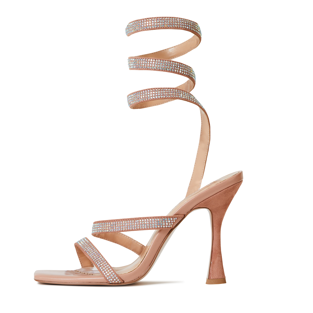 Yasmeen Nude Wrap Around Heels
