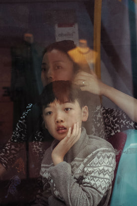 Mother & Boy, Bus Window