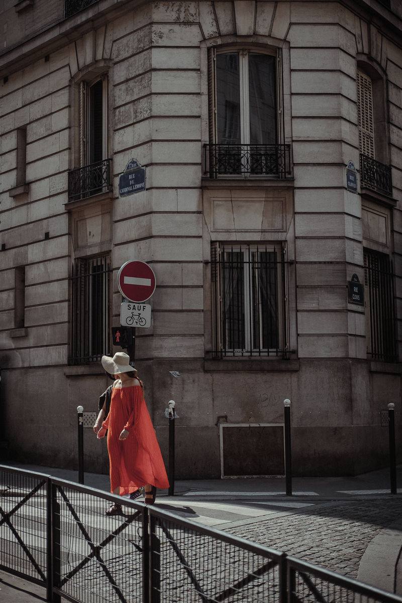 White Hat, Red Dress, Paris