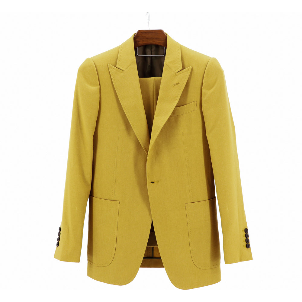 "Mustard Natural Stretch ""Benton Peak Lapel"" Suit"