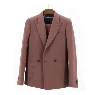 "Mauve Stretch ""Benton Peak Lapel"" 2B Suit"