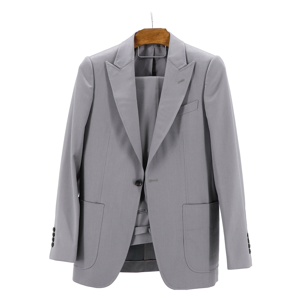 "Silver Sheen Stretch ""Benton Peak Lapel"" Suit"