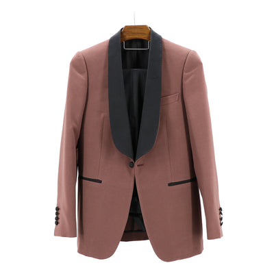 "Mauve Stretch ""Terry Shawl Lapel"" 1B Dinner Jacket"