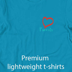 ladies premium t-shirts parrots