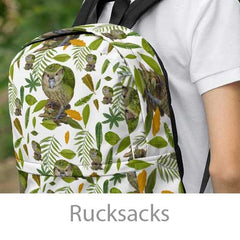 rucksacks with parrots