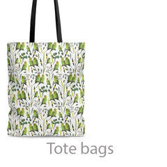 tote bags with parrots