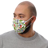 Premium face mask. Grey Parrots