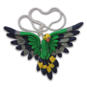 Handcrafted Budgie necklace