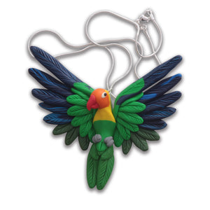 Handcrafted Fischer's Lovebird necklace