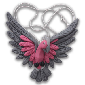 Handcrafted Galah necklace*