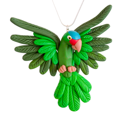 Handcrafted Green-cheeked Amazon necklace*