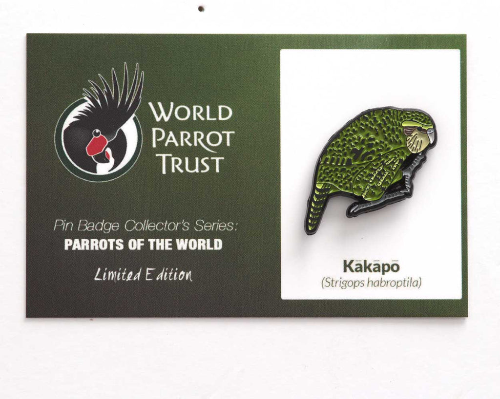 *NEW* Collectors Enamel Pin Badges - no 10. Kakapo
