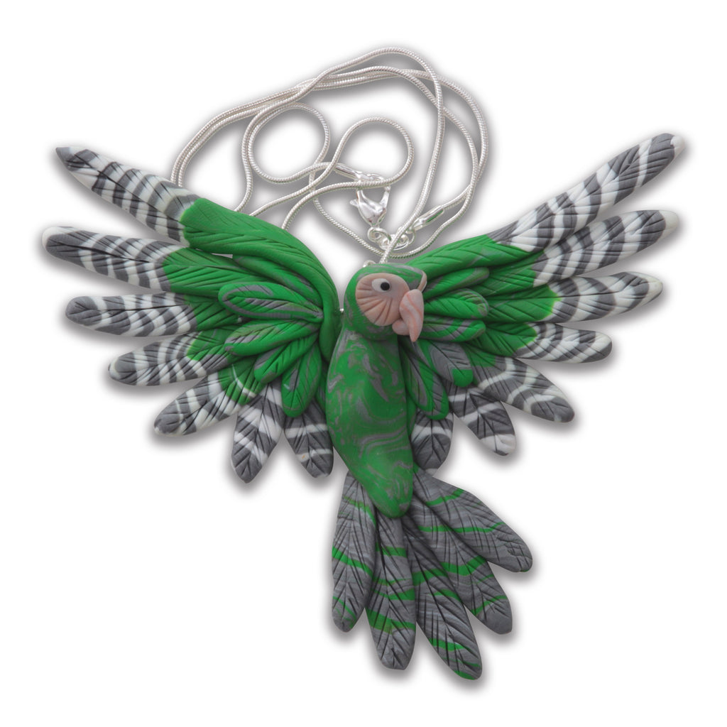 Handcrafted Kakapo necklace