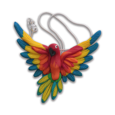 Handcrafted Rainbow lorikeet necklace