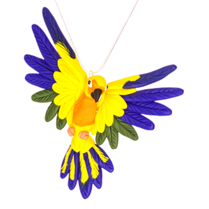 Handcrafted Sun Conure necklace
