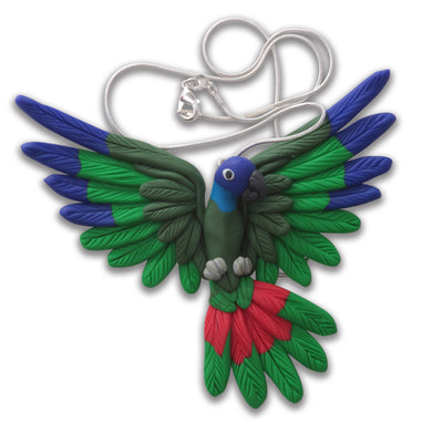 Handcrafted Pionus necklace