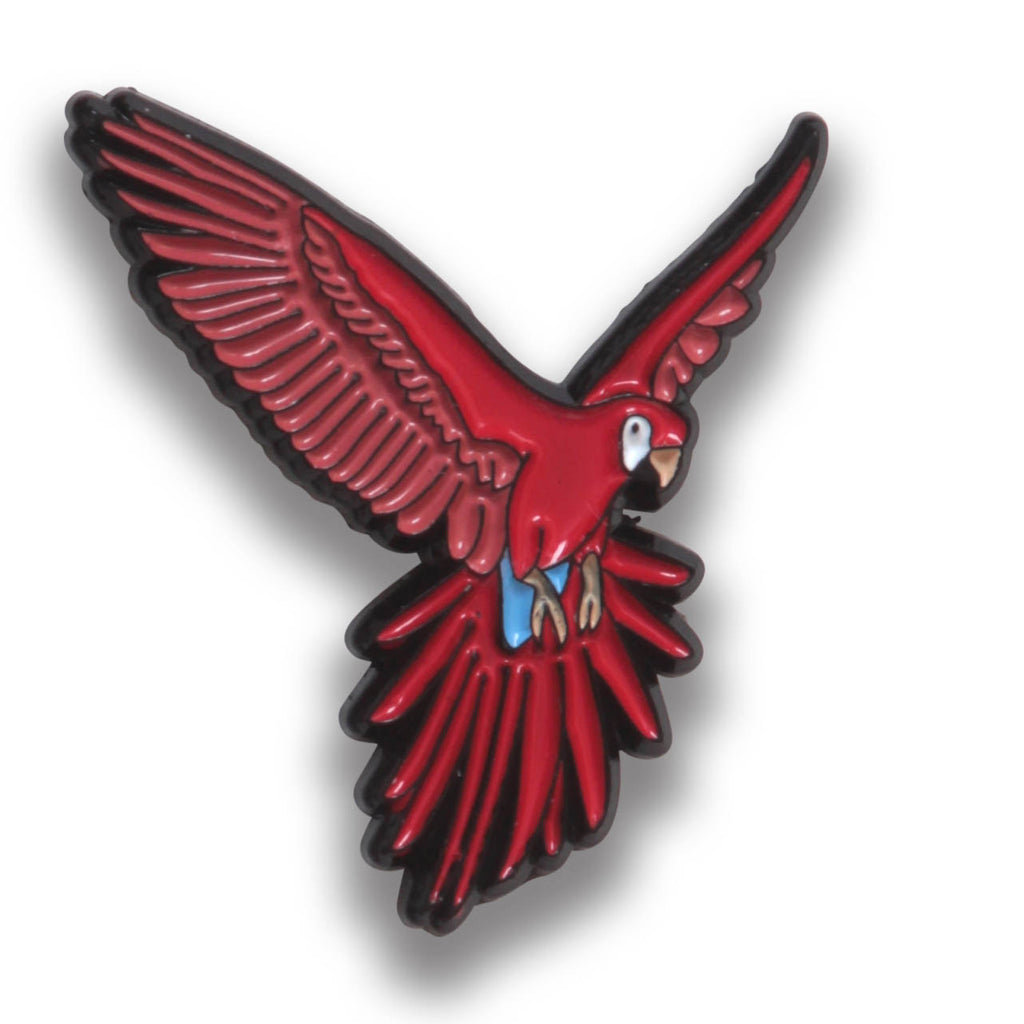 Collector's Enamel Pin Badges - no 15. Scarlet Macaw