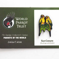 Collectors Enamel Pin Badges - no 9. Sun Conure