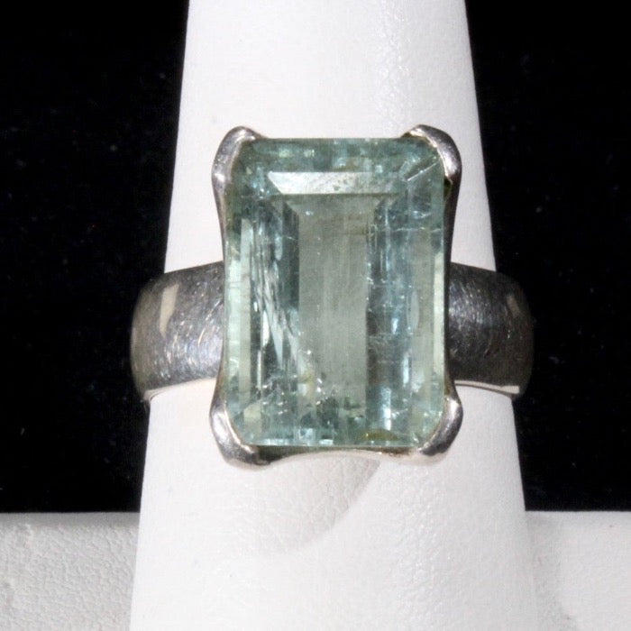 Aquamarine ring size 9