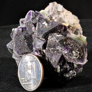 Fluorite (Purple over Green octahedrons over Blue cubes)