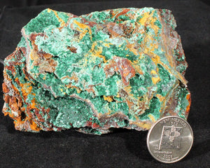 Malachite, Goethite & Calcite