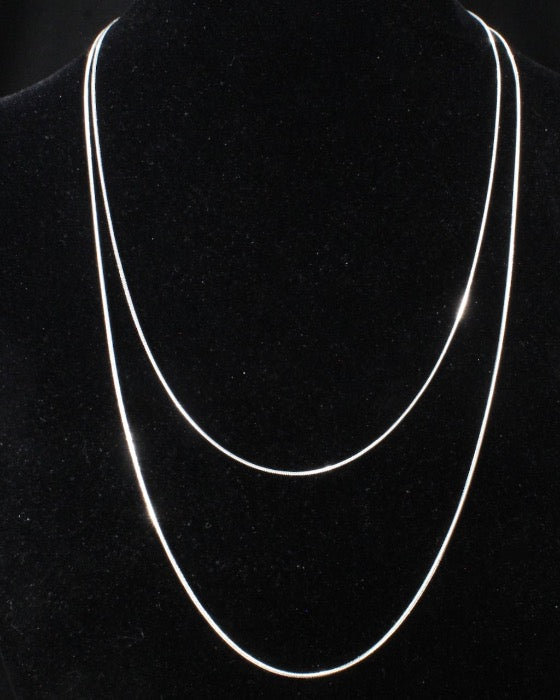 Sterling silver adjustable snake chains