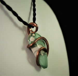 Variscite Pendant in Copper Wire-wrap